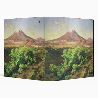 A Small Volcano in Mexican Countryside, 1887 (oil Vinyl Binder