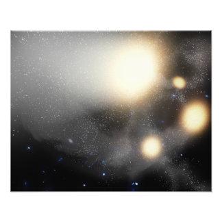 A smash-up of galaxies photograph