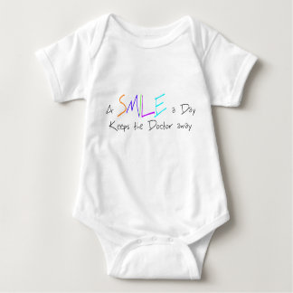 A Smile a Day Keeps the Doctor Away Baby Bodysuit