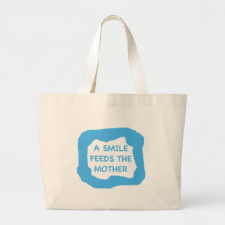A smile feeds the mother .png jumbo tote bag