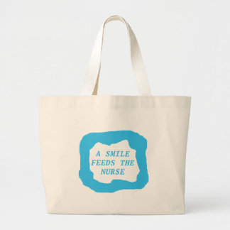 A smile feeds the nurse .png jumbo tote bag