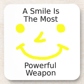 A Smile Is The Most Powerful Weapon (Smiley Face) Coaster