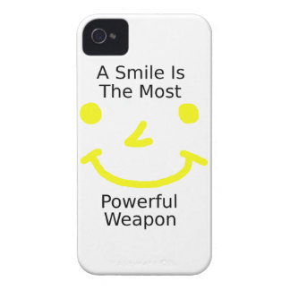 A Smile Is The Most Powerful Weapon (Smiley Face) iPhone 4 Cover