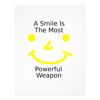 A Smile Is The Most Powerful Weapon (Smiley Face) Letterhead