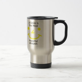A Smile Is The Most Powerful Weapon (Smiley Face) Travel Mug