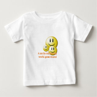 A smile makes the  world goes round baby T-Shirt