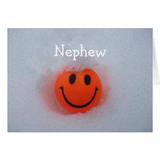 A Smiley Face -Nephews Valentine's Day Card