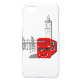 A smiling London Bus, Big Ben in background iPhone 7 Case
