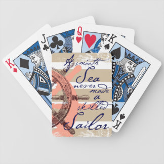A Smooth Sea never made a skilled Sailor Bicycle Playing Cards