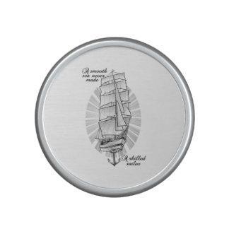 A smooth sea never made a skilled sailor bluetooth speaker