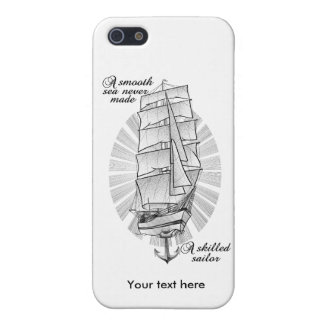 A smooth sea never made a skilled sailor iPhone 5/5S cover