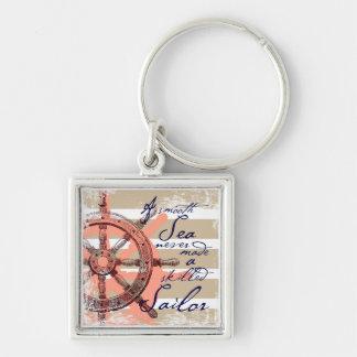 A Smooth Sea never made a skilled Sailor Keychain