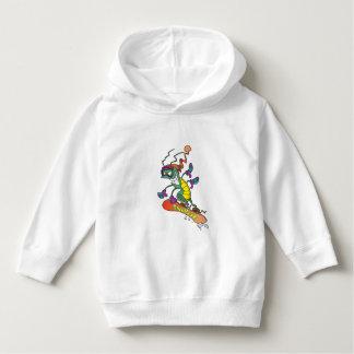 A snowboarding bug hoodie