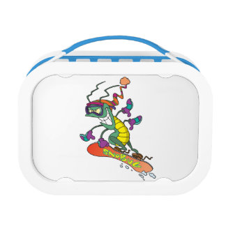 A snowboarding bug lunch box