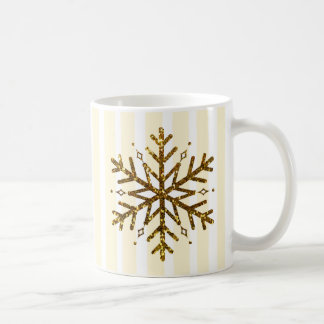 A Snowflake is Winter's Butterfly Gold Coffee Mug