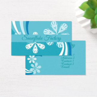 A Snowflake Storm Business Card