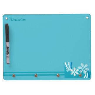A Snowflake Storm Dry Erase Board With Keychain Holder
