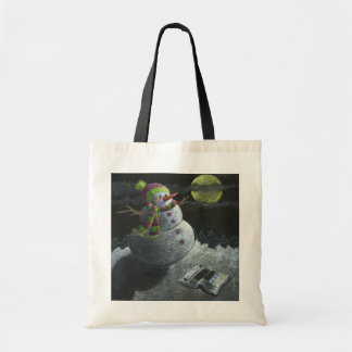 A Snowman Tear Tote Bag