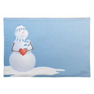 A Snowman With Heart Placemat