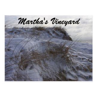 A Snowy Beach Martha's Vineyard Post Card