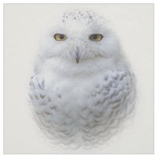 A Snowy Owl Encounter Fabric