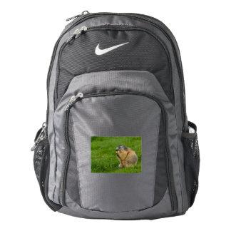 a sociable marmot on Nike Performance Backpack