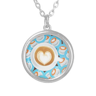 A soft heart silver plated necklace