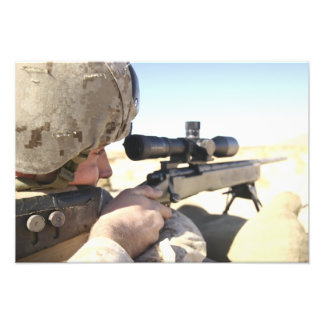 A soldier aims in with his M40A3 Photograph
