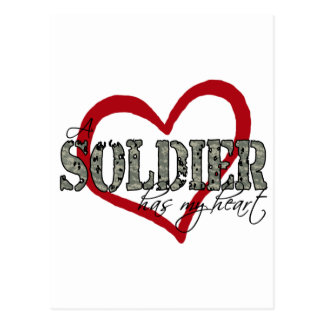 A Soldier Has My Heart Postcard