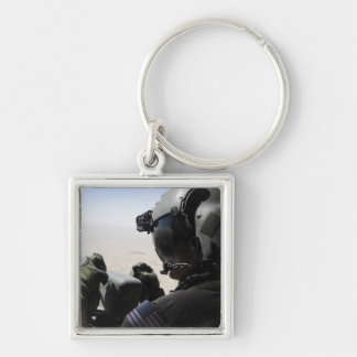 A soldier provides security key chain