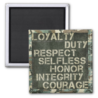 A soldier's values magnet