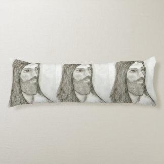 A Solemn Jesus Body Pillow