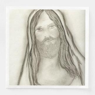 A Solemn Jesus Disposable Napkins