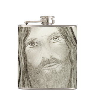 A Solemn Jesus Flask