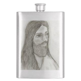 A Solemn Jesus Flasks