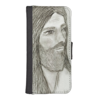 A Solemn Jesus II iPhone SE/5/5s Wallet Case