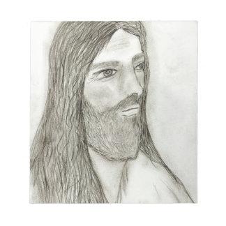 A Solemn Jesus Notepad