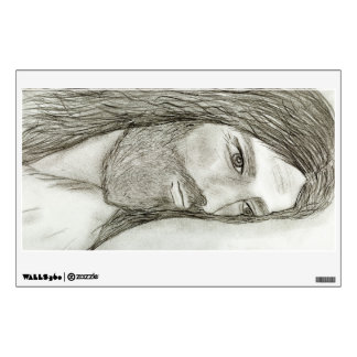 A Solemn Jesus Wall Decal