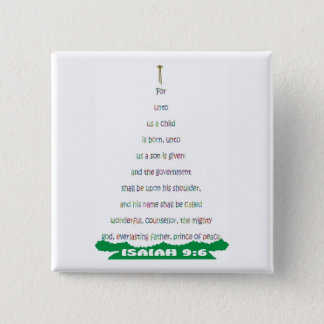 A SON IS GIVEN© ButtonENG 2 Inch Square Button