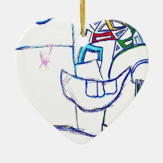 A Songbirds Morphetic Ceramic Heart Ornament