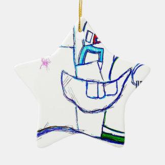 A Songbirds Morphetic Ceramic Star Ornament