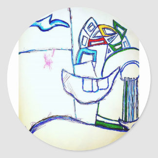 A Songbirds Morphetic Classic Round Sticker