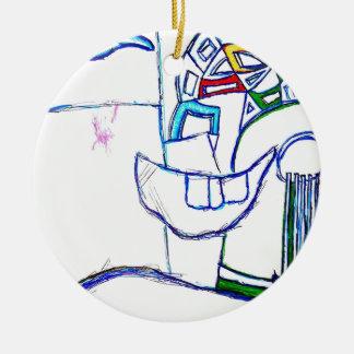A Songbirds Morphetic Round Ceramic Ornament