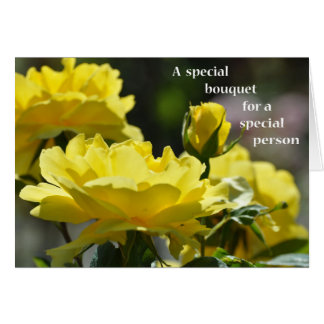A Special Bouquet for a Special Person-Yellow Rose Card
