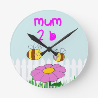 A special gift for a mum to be round clock