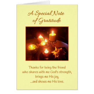 A Special Note of Gratitude...Friendship Card