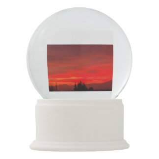 a spectacular  sunset of  clouds on  Snowglobe