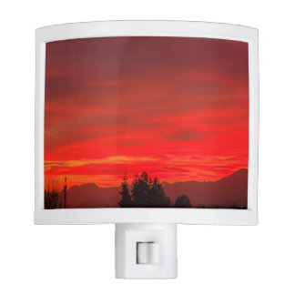 a spectacular  sunset on night light