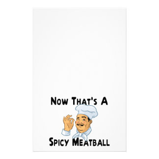 A Spicy Meatball Stationery