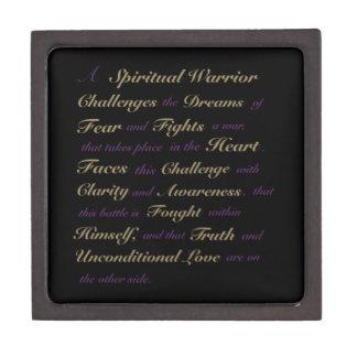 """A Spiritual Warrior"" Inspirational Black Gift Box Premium Gift Boxes"